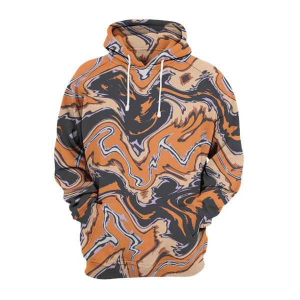 Abstract Orange Liquid Hoodie