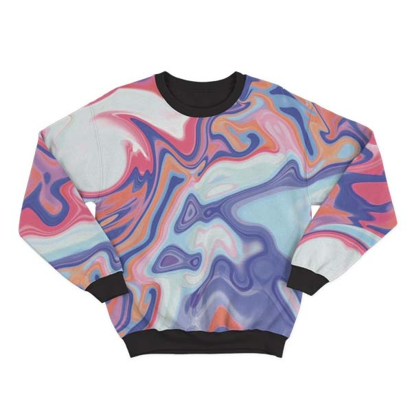 Abstract Red Liquid Sweatshirt