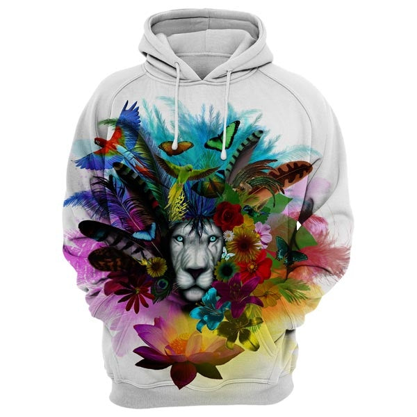 Lion In Nature Hoodie