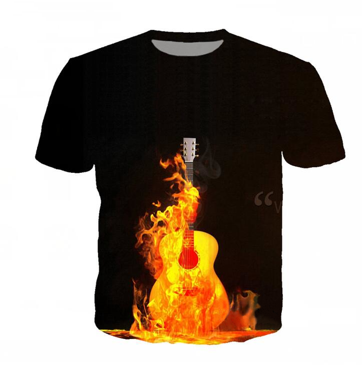 Fire Guitar T-Shirt