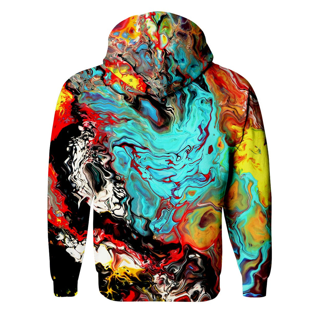 Oil Painting Zip Up Hoodie