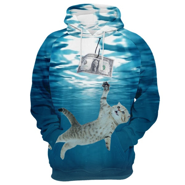 Money Hungry Cat Hoodie