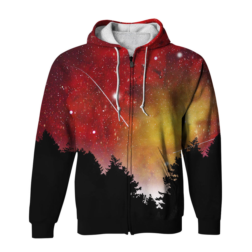 Red Lights Zip Up Hoodie