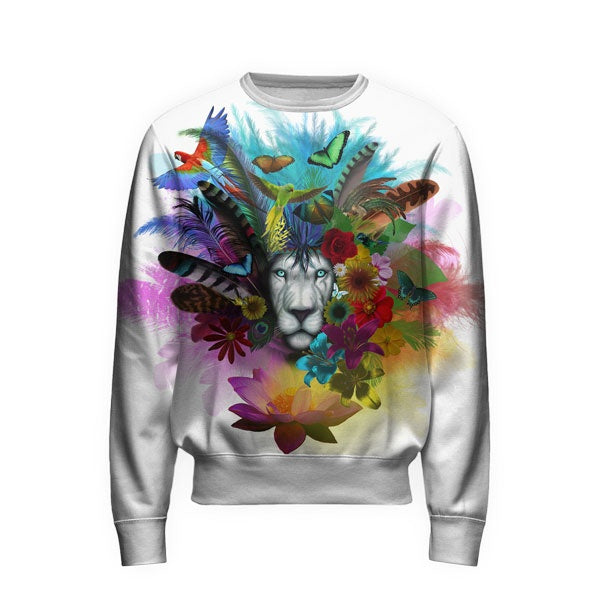 Flowers Lion Sweatshirt