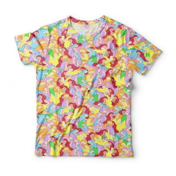 Light Rainbow Hippo T-Shirt