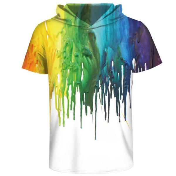 Colorful Hooded T-Shirt