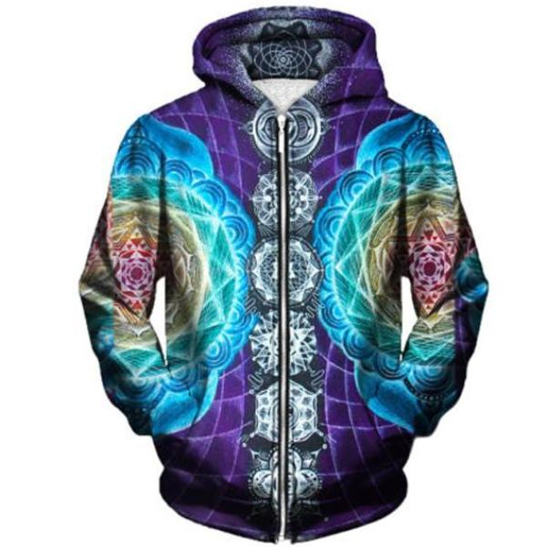 Colorful Dream Zip-Up Hoodie