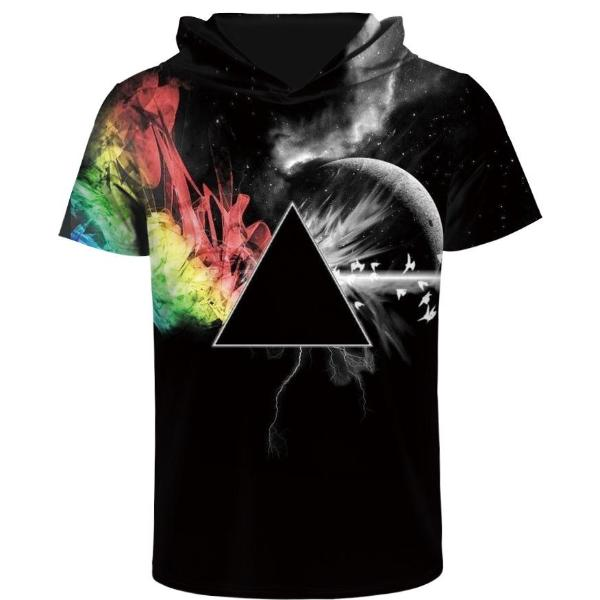 Rainbow Hooded T-Shirt