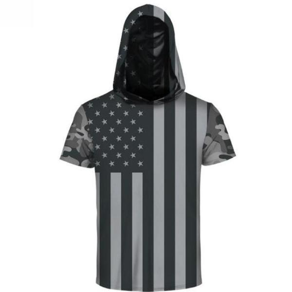 American Flag Hooded T-Shirt