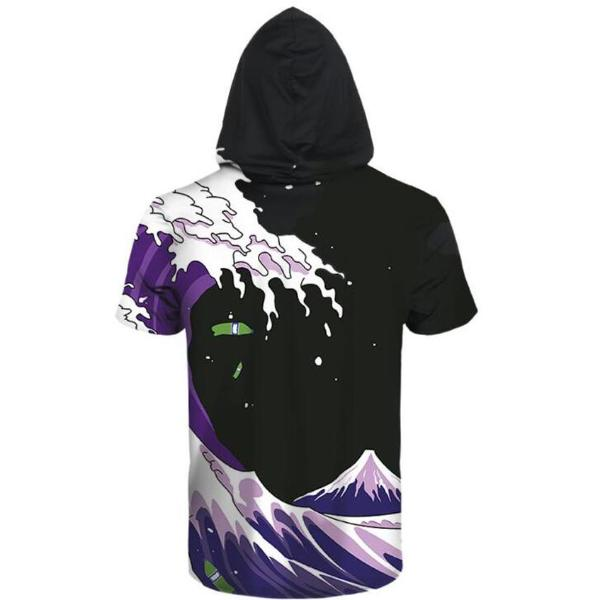 Waves Hooded T-Shirt