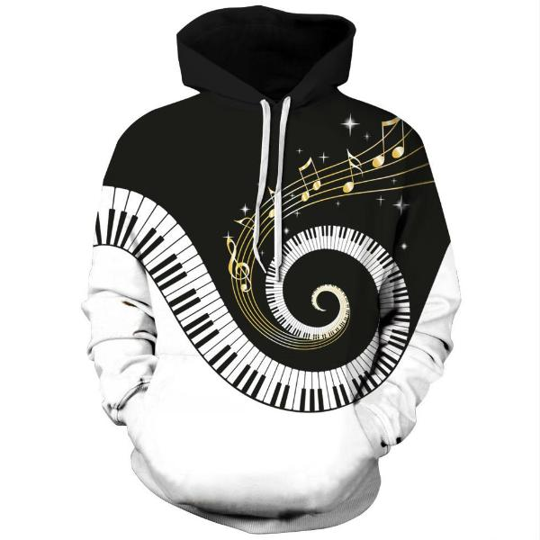 Piano Style Hoodie