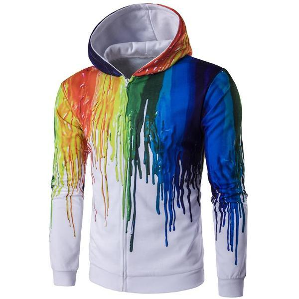Colorful Spring Zip-Up Hoodie