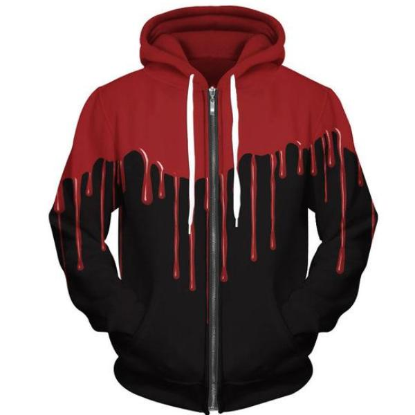 Blood Zip-Up Hoodie