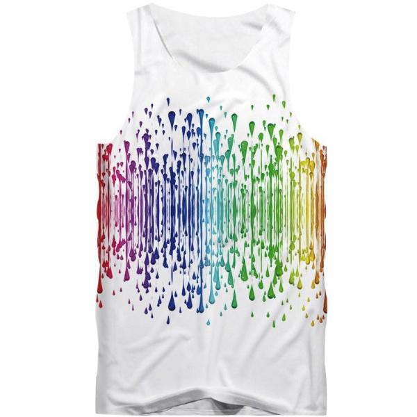 Colorful Water Drops Tank Top