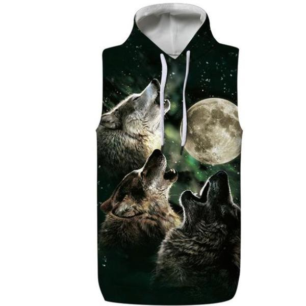 Wolves Hooded Tank Top