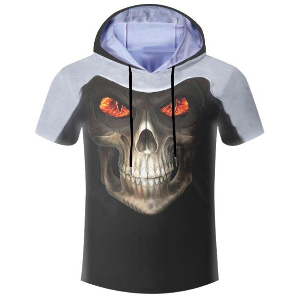 Fanatics Skull Hooded T-Shirt
