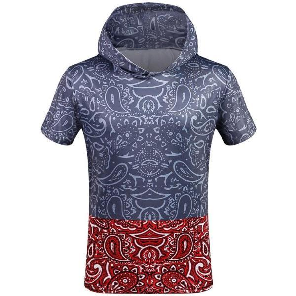 Abstract Pattern Hooded T-Shirt