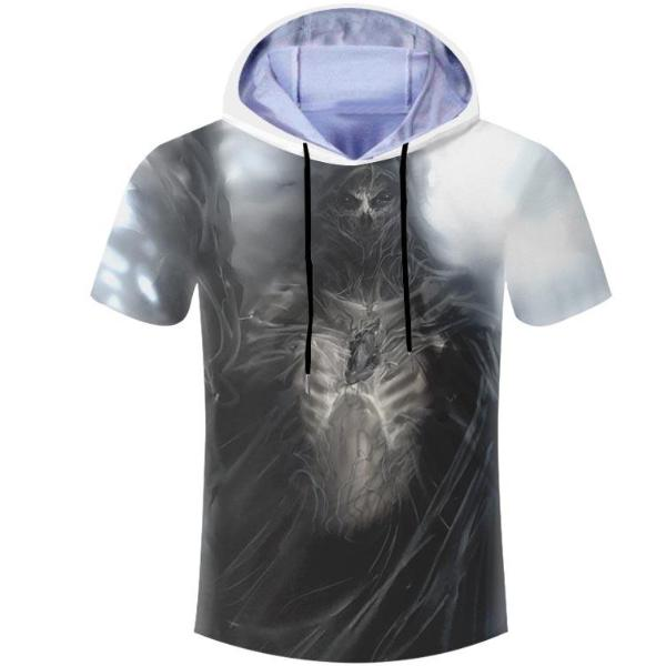 Skeleton Hooded T-Shirt