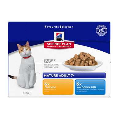 Hill's™ Science Plan™Feline Mature Adult 7+ Chicken & Ocean Fish Pouches