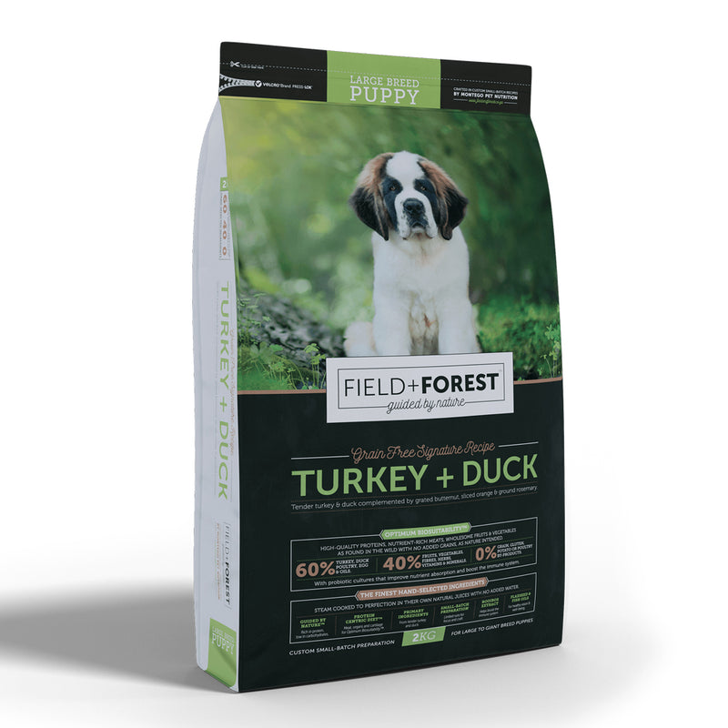 Field + Forest Turkey & Duck Large Breed Puppy Dog Food