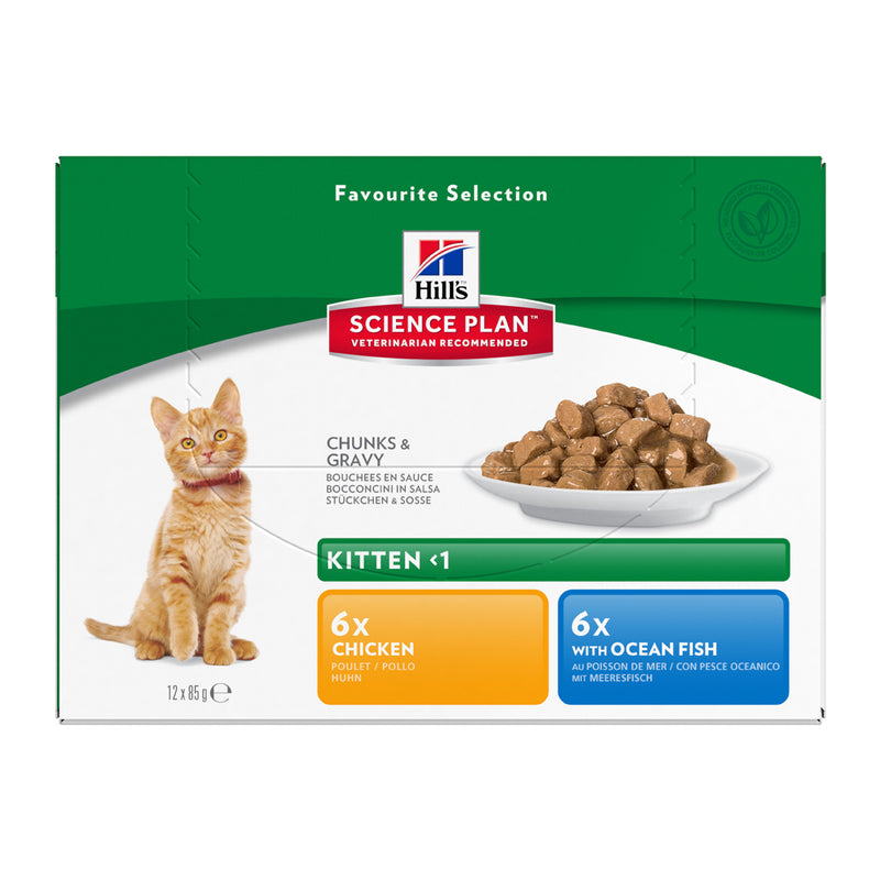 Hill's™ Science Plan™Kitten with Chicken & Ocean Fish Pouches
