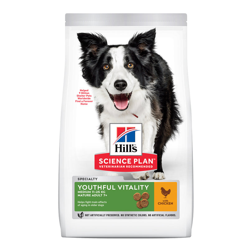 Hill's™ Science Plan™ Medium Breed 7+ Senior Vitality with Chicken dry dog food