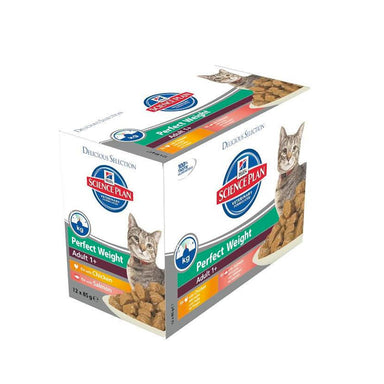 Hill's™ Science Plan™ Perfect Weight Feline Adult with Chicken & Salmon Pouches