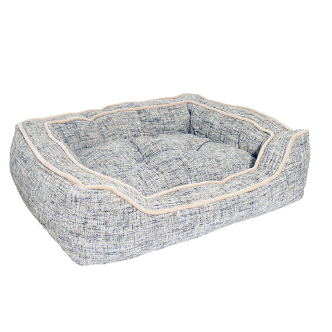 Lux Slate & Oatmeal SQ Bed