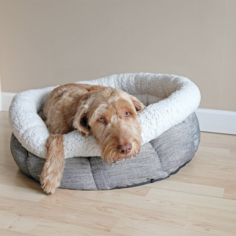 Rosewood Deep Tweed Teddy Bear Round Dog Bed