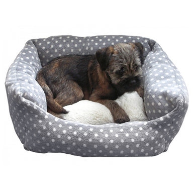 Rosewood Grey & Cream Spot Sleeper Bed