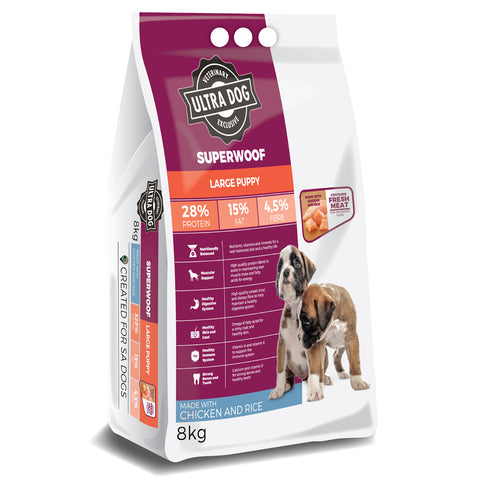 Ultradog Superwoof Large Puppy Chicken and Rice