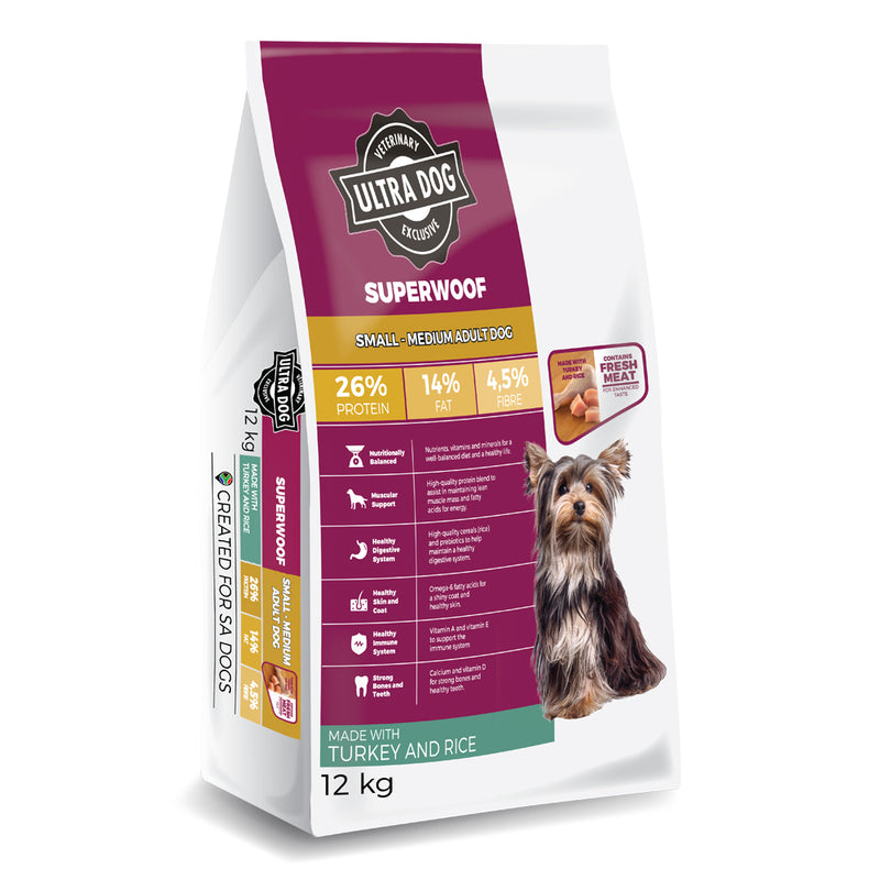 Ultradog Superwoof Small- Medium Adult Turkey and Rice