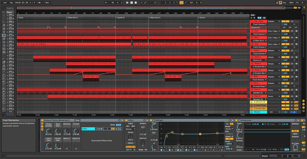 Hard Techno template for Ableton 2021