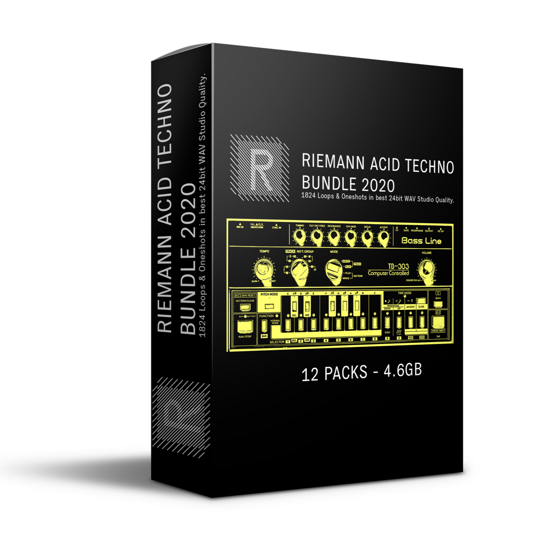 Riemann Acid Techno 12 Sample Packs Bundle 2020