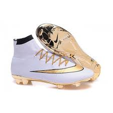 new style e85bb a9227 2018 White Gold CR7 Nike Mercurial