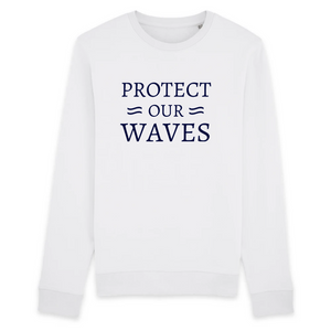 Sweat-shirt unisexe en coton bio - Protect our waves