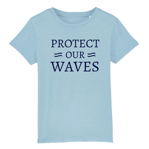 T-shirt enfant en coton bio - Protect our waves