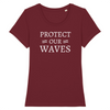 T-shirt femme en coton bio - Protect our waves