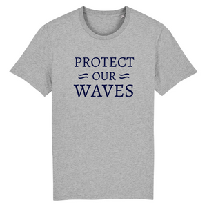 T-shirt homme en coton bio - Protect our waves