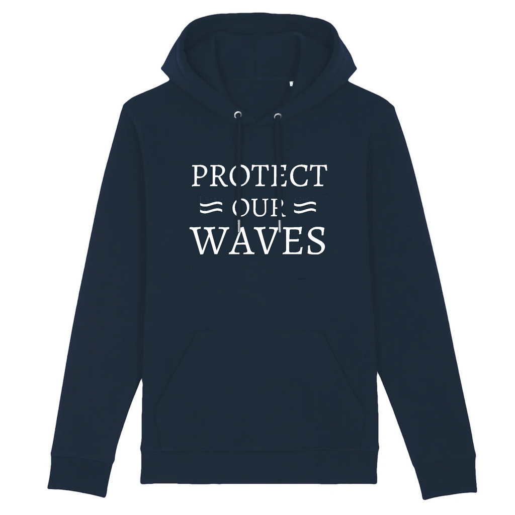 Hoody unisexe en coton bio - Protect our waves