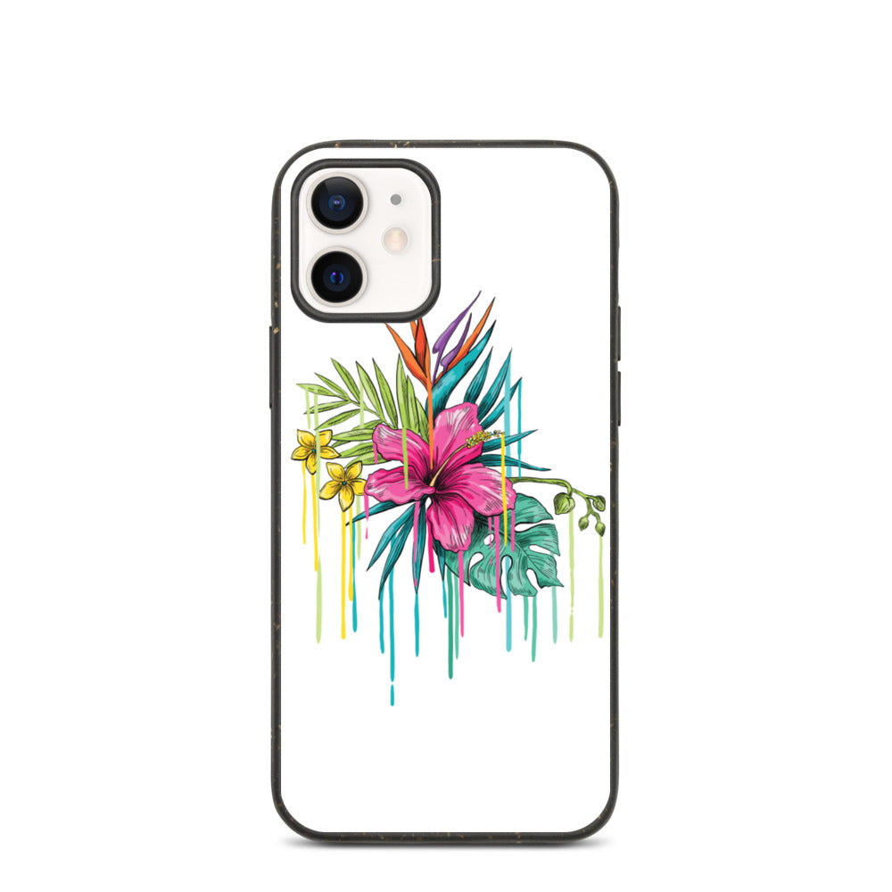 Coque anti-choc biodégradable pour iPhone - Tropical