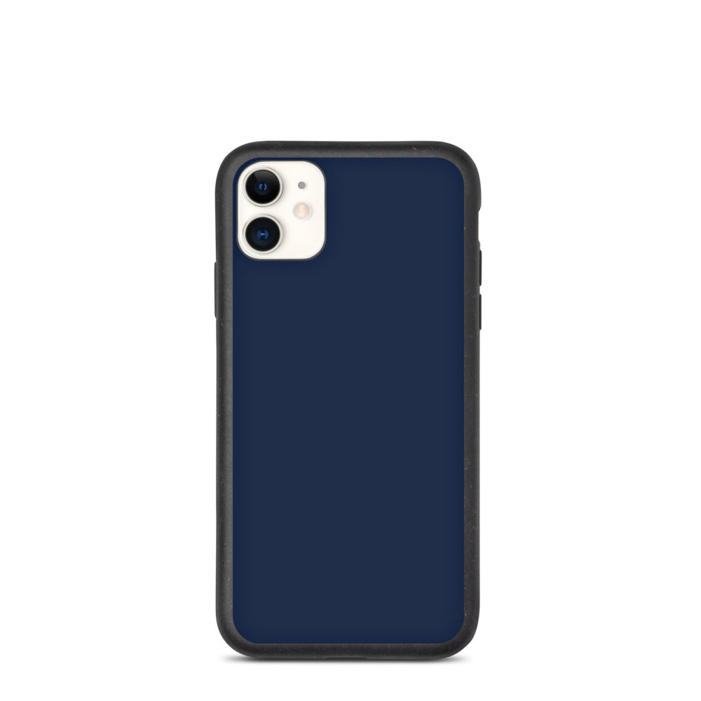 Coque anti-choc biodégradable pour iPhone - Navy