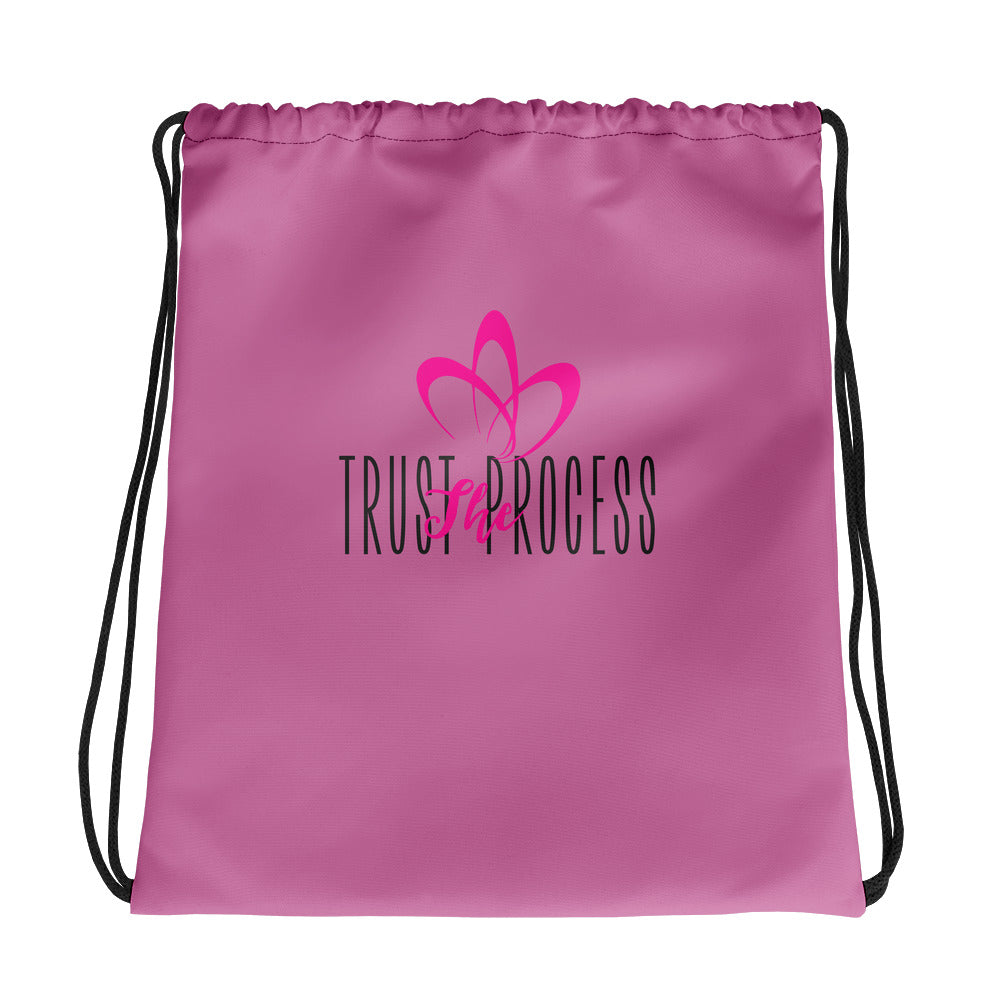 Pink Kissess Drawstring Bag