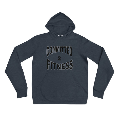 Unisex Hoodie-Committed 2 Fitness (B)