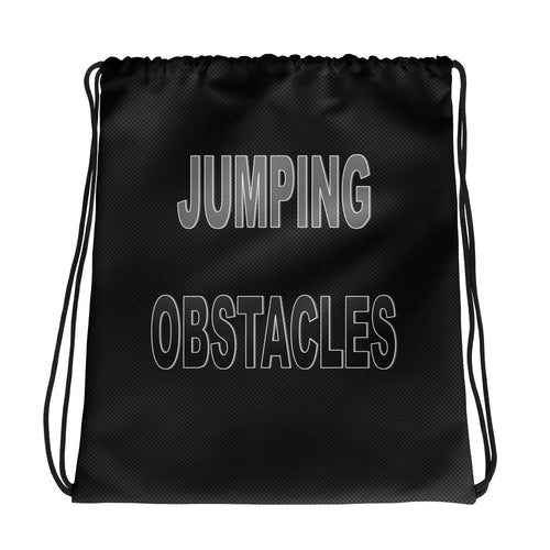 Committed 2 Fitness Drawstring Bag-Jumping Obstacles