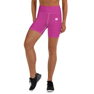 Pink Kissess Yoga Shorts