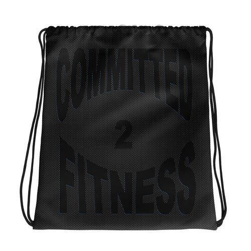 Drawstring Bag-Committed 2 Fitness