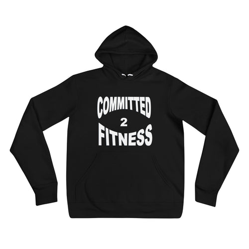 Unisex Hoodie-Committed 2 Fitness (W)