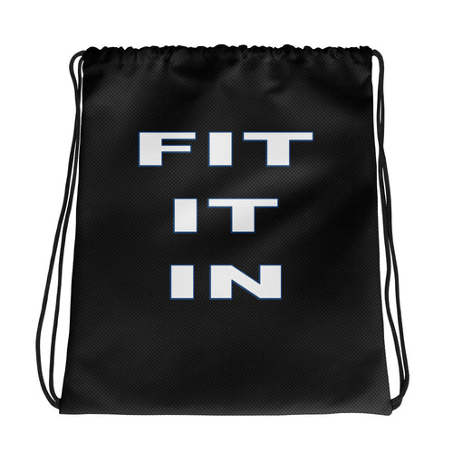 Committed to Fitness Drawstring bag-Fit It In