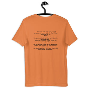 Culture Rediscovered Stanza II (on the back) Unisex T-Shirt (B)